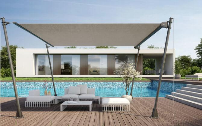 sonnensegel, bremetall, terrassensegel, schattenseite, beschattung, sonnensegel auf maß, sonnensegel gespannt