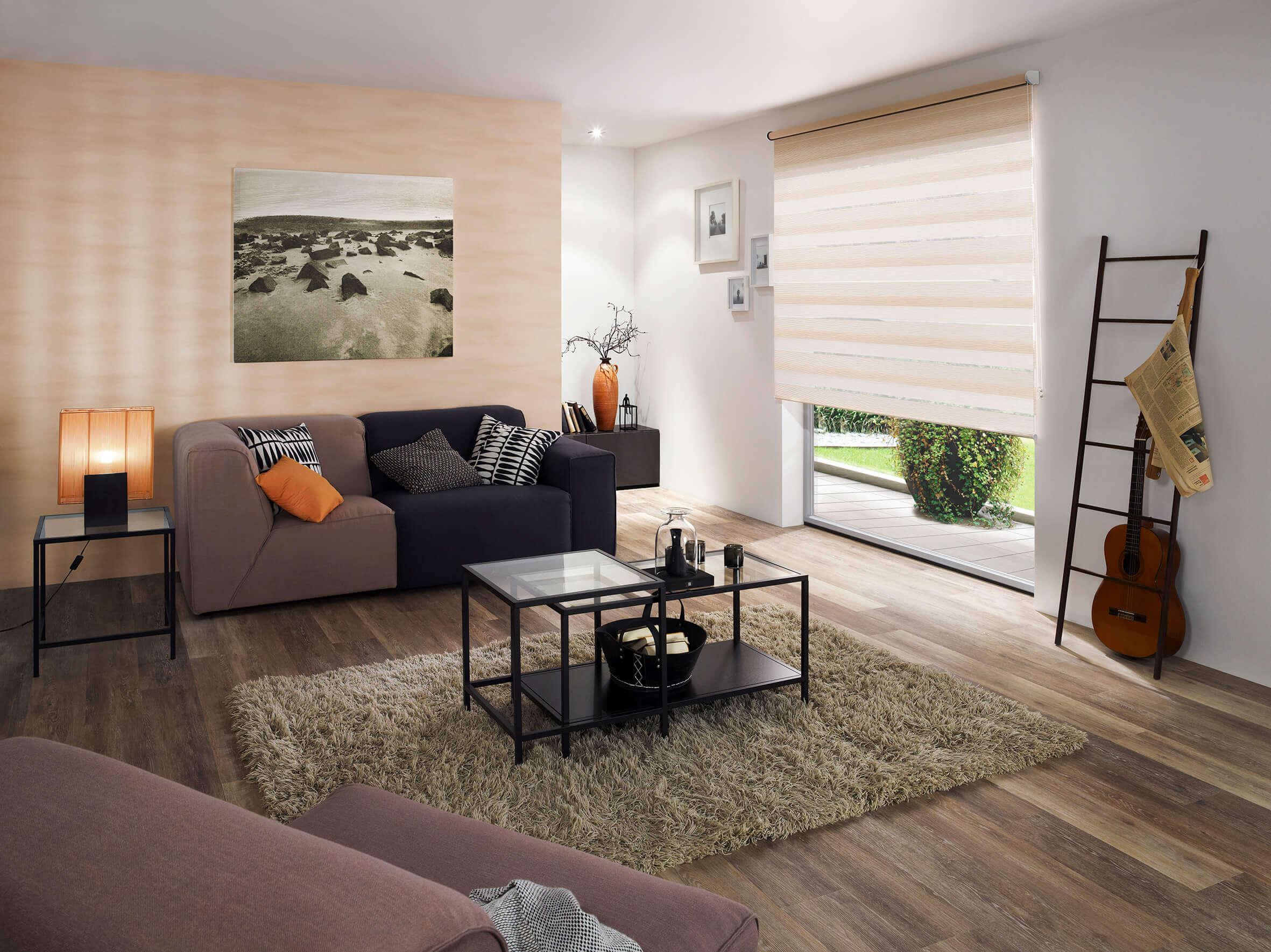doppelrollo, innenbeschattung, innenrollo, wohnzimmersonnenschutz, blendschutz, sichtschutz, skandi, industrial